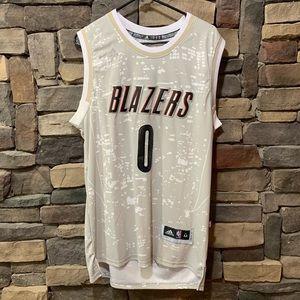 Adidas Portland Blazers Damian Lillard Jersey M